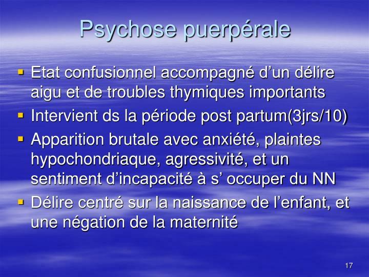 Psychose puerpérale