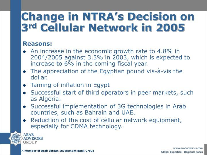 Change in NTRA's Decision on 3