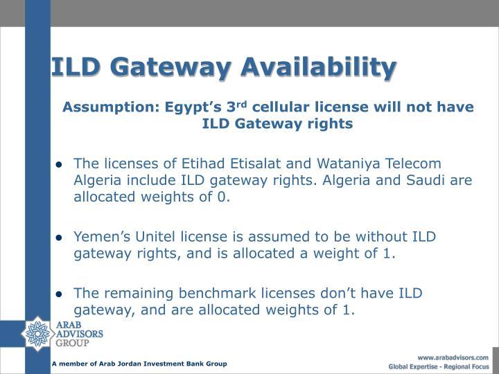 ILD Gateway Availability