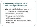 elementary program ag third through fifth grade