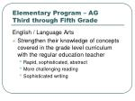 elementary program ag third through fifth grade2