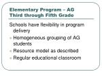 elementary program ag third through fifth grade3