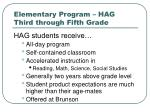 elementary program hag third through fifth grade