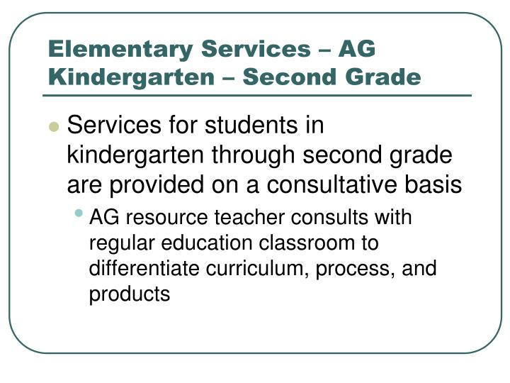 Elementary Services – AG