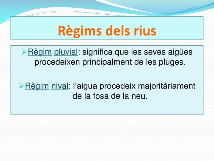 Règims dels rius