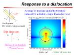 response to a dislocation1