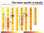 the lower aquifer is karstic