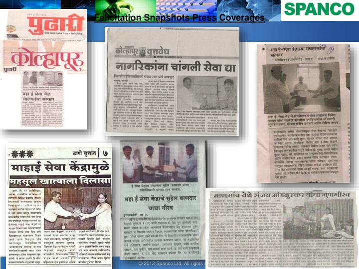 Felicitation snapshots press coverages