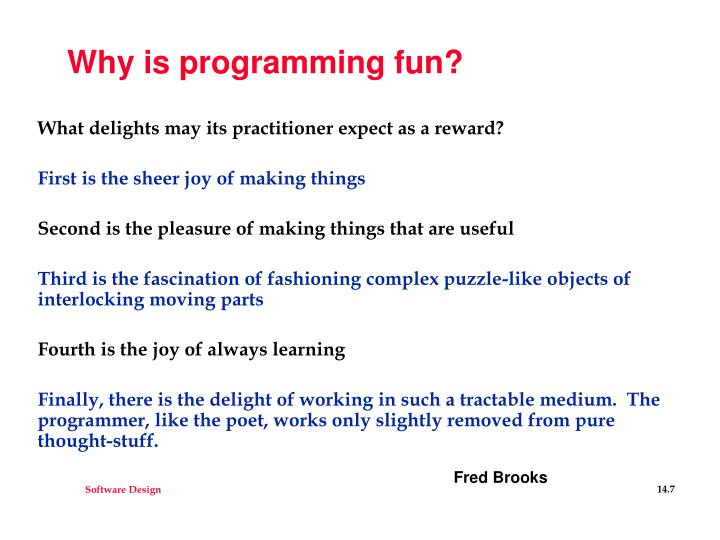 Why is programming fun?