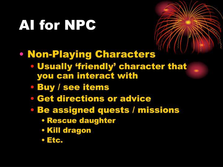 AI for NPC