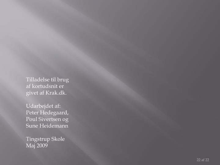 Tilladelse til brug af kortudsnit er givet af Krak.dk.