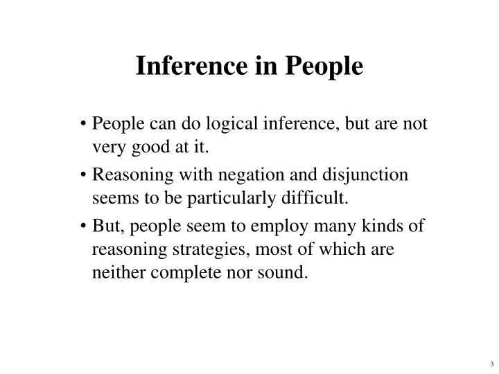 Inference in People