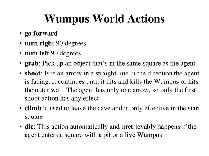 Wumpus World Actions