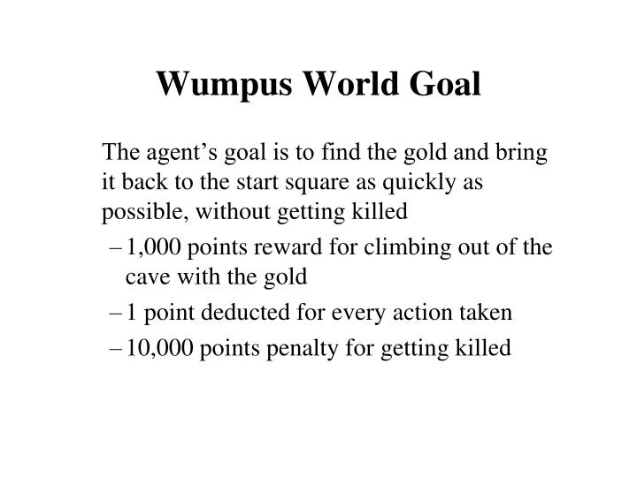 Wumpus World Goal