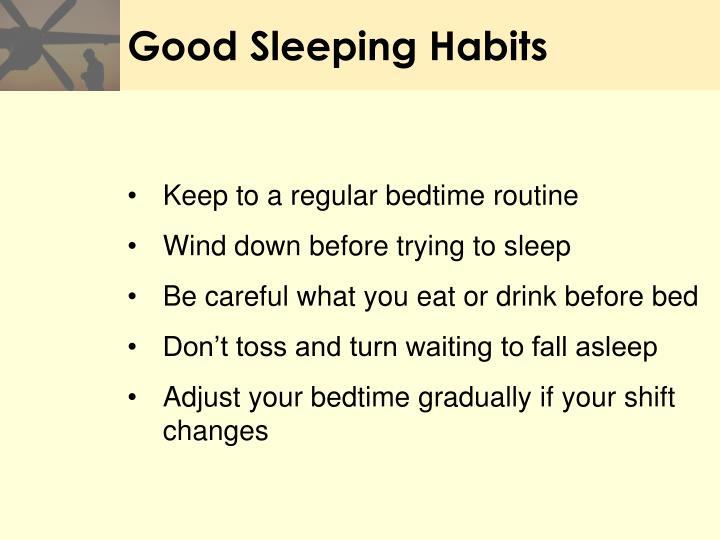 Good Sleeping Habits