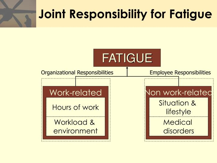 Joint Responsibility for Fatigue