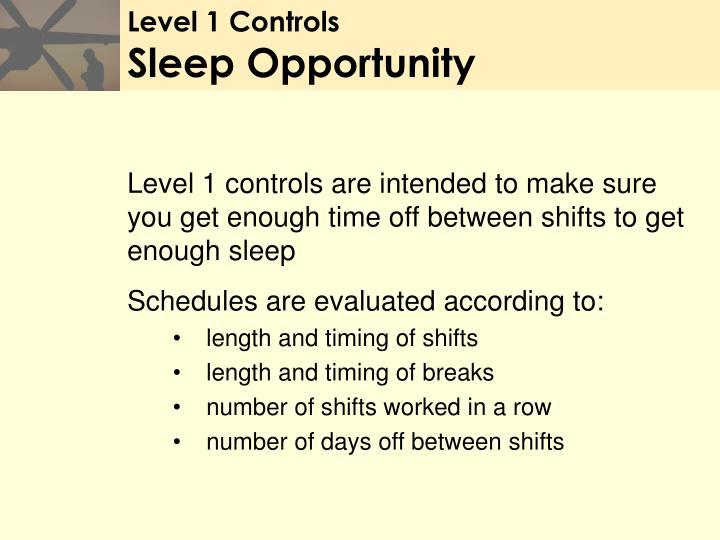 Level 1 Controls