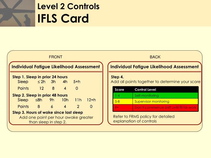 Level 2 Controls