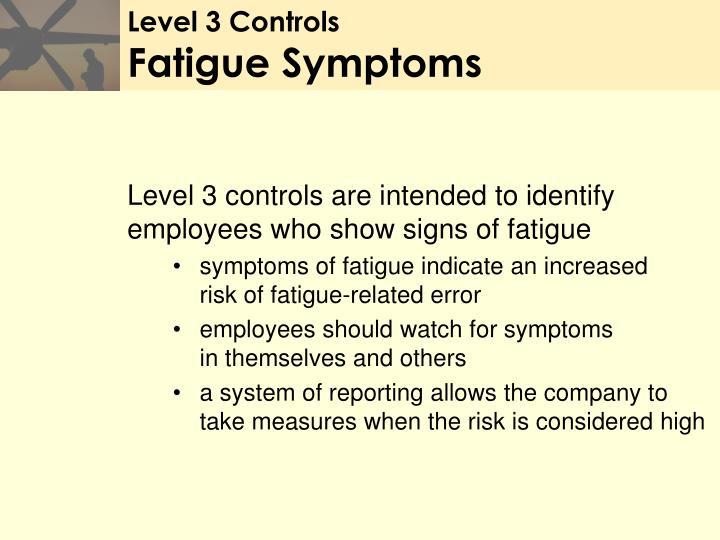 Level 3 Controls