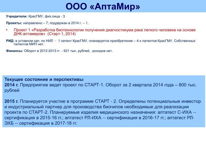 ООО «АптаМир»