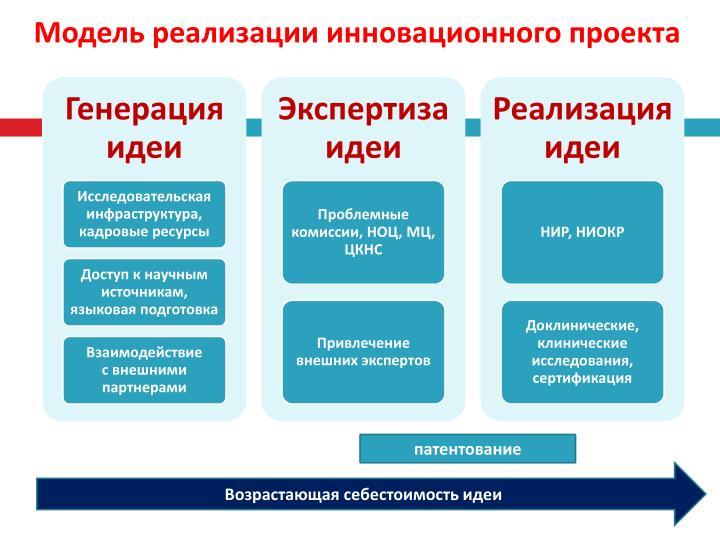 Модель реализации инновационного проекта