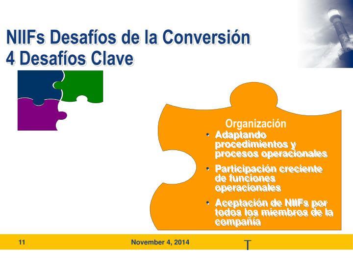 NIIFs Desafíos de la Conversión