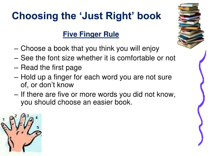 Choosing the 'Just Right' book