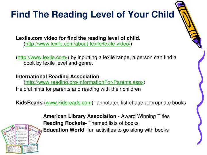 Find The Reading Level of Your Child