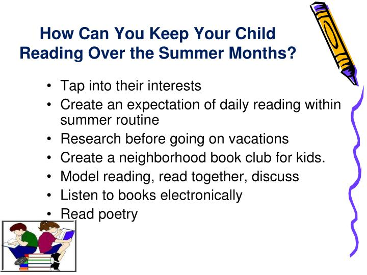 How can you keep your child reading over the summer months