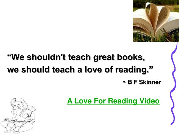 """We shouldn't teach great books,"