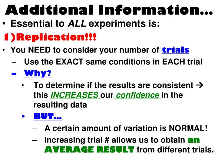Additional Information…