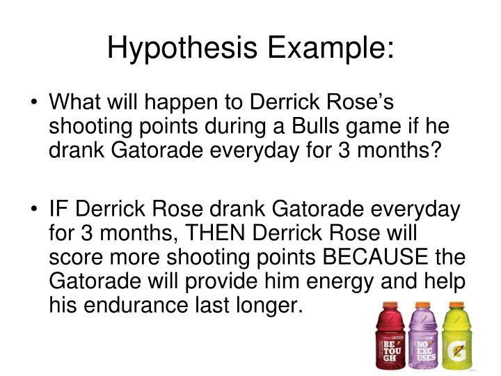 Hypothesis Example: