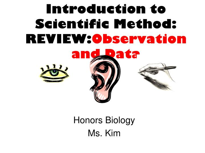 Introduction to scientific method review observation and data