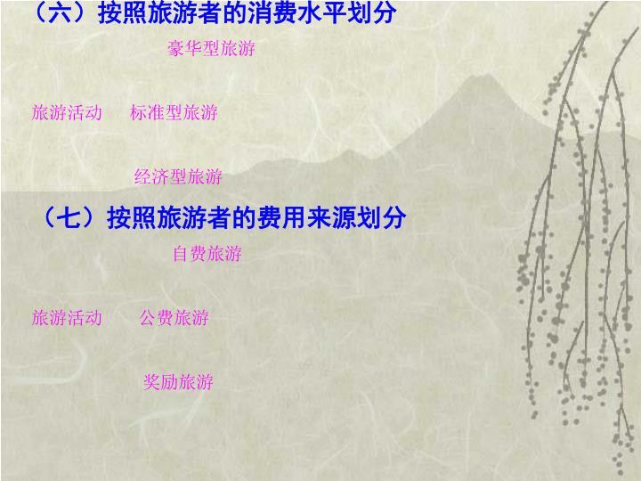 (六)按照旅游者的消费水平划分