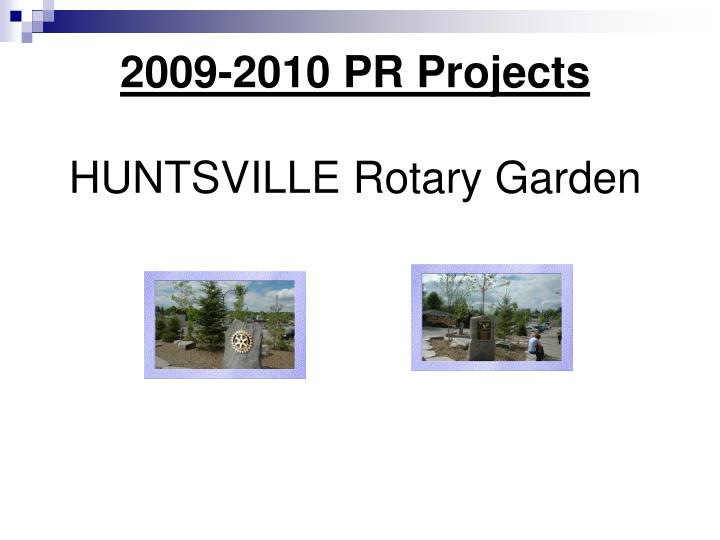 2009-2010 PR Projects