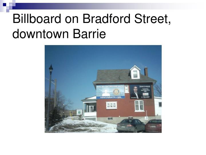 Billboard on Bradford Street, downtown Barrie