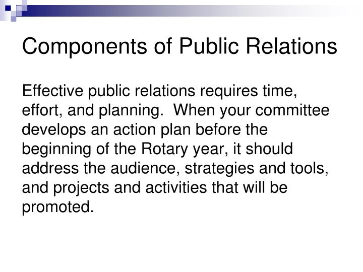 Components of Public Relations