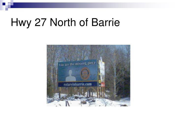 Hwy 27 North of Barrie