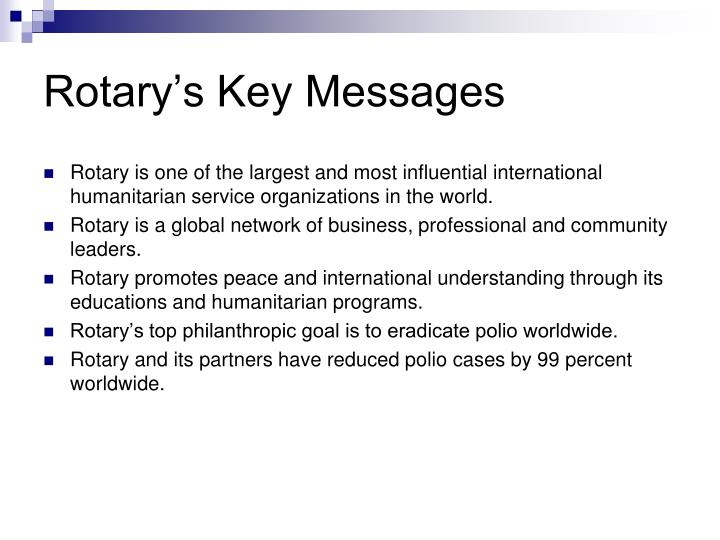 Rotary's Key Messages