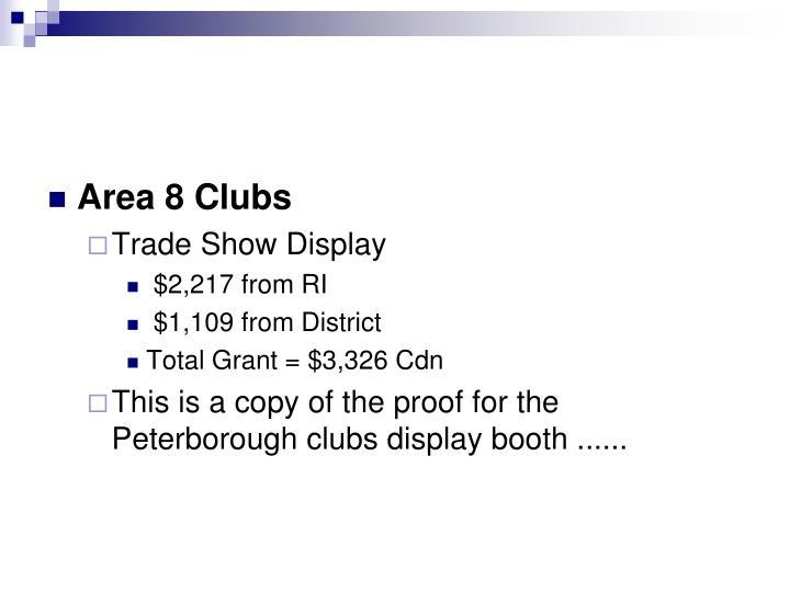 Area 8 Clubs