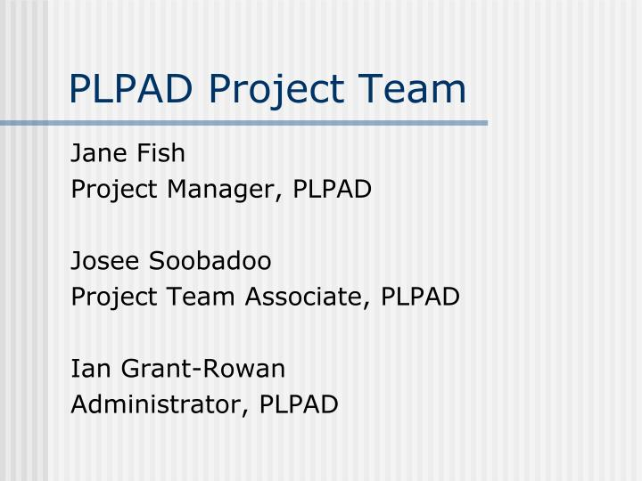 Plpad project team