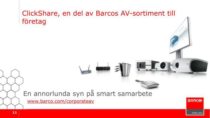 ClickShare, en del av Barcos AV-sortiment till företag