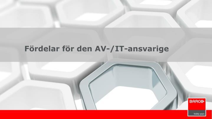 Fördelar för den AV-/IT-ansvarige