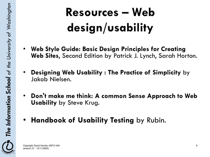 Resources – Web design/usability