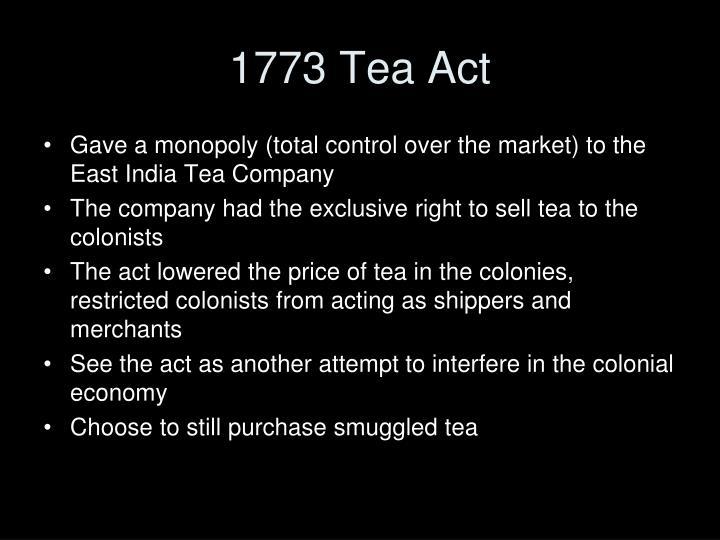 1773 Tea Act