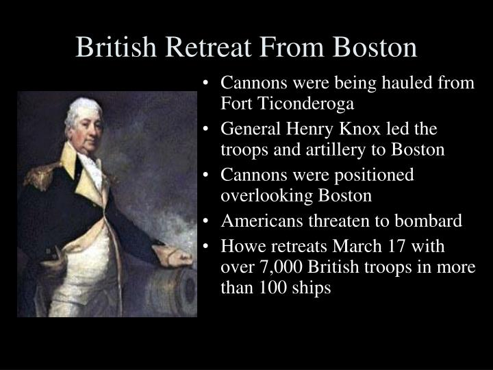 British Retreat From Boston