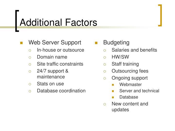 Web Server Support