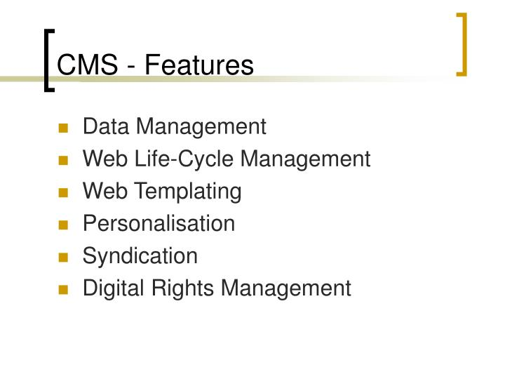 CMS - Features