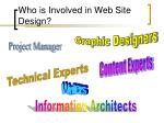who is involved in web site design