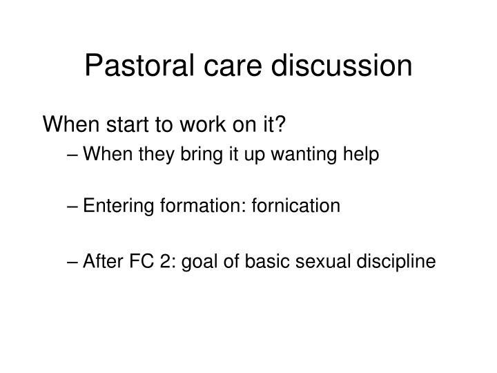 Pastoral care discussion